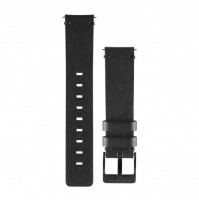 Black Leather Watch Band for vívomove - 010-12495-02 - Garmin