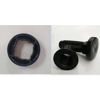 External pin and spacer for pontoon cube - Black - EP18-BL - ASM