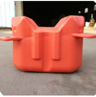 Floating Dock HDPE V-Shape pontoon cube - Red - FD505030-RD - AZZI