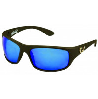HP POLARIZED SUNGLASSES, BLACK FRAME, SMOKE LENS WITH BLUE REVO - HP100A-1 - Mustad
