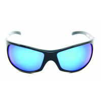 PRO SUNGLASSES GLOSS BLACK FRAME / SMOKE BLUE REVO LENS - HP103A-1 - Mustad