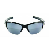 PRO SUNGLASSES GLOSS BLACK FRAME / SMOKE LENS - HP105A-2 - Mustad