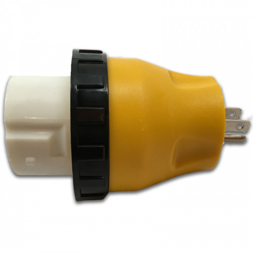 RV Power Cord Adapter with Twist Lock Female - 15 Amp Male to 50 Amp - 125 V - JS-PW005 - JSP