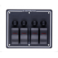 Rocker Switch with 4 Panels - LB4H - ASM