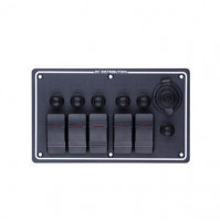 Rocker Switch with 5 Panels - LB5H/S - ASM