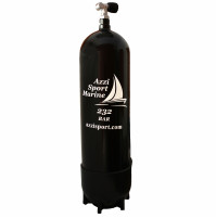 Steel Tank with 1 Outlet Valve and Boot - 18 L - 230B  - TK-A1808216 - AZZI SUB
