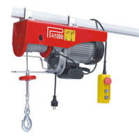Electric Hoist Winch D Series with 18 m Extended Wire Rope - Max. Capacity 500/999 kg  - 220 V - 1600 W - BA-PA1000D-18M-220V - ASM