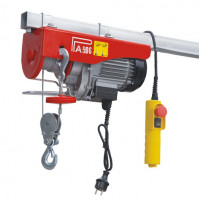 Electric Hoist Winch D Series with 18 m Extended Wire Rope - Max. Capacity 250/500 kg - 220 V - 900 W - BA-PA500D-18M-220V - ASM