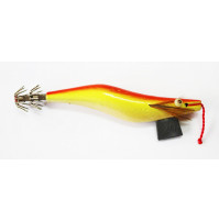 Painted Squid with Plomb - Red, Yellow & White - Size 3.00 - S42-RY - AZZI Tackle