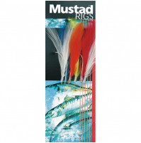 Terminal Tackle - 6 HOOKS COLOURED MACKEREL FEATHER TRACE - T7 - Mustad