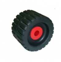 4-3/8'' Ribbed Wobble Roller With Nylon Side Bushes - WR1304 - Multiflex