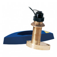 Bronze Thru-hull Mount Transducer with Depth, Speed & Temperature  - Airmar B74 - 010-10193-02 - Garmin