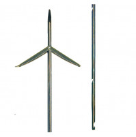 Stainless Steel Tahitian RockWell 3-sides and 2 Barbs 6.5mm with Triface - SH-B17150X - Beuchat