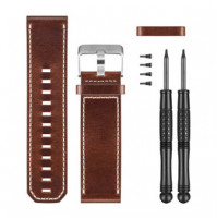 Bravo/ Fenix 3, Brown Leather Watch Band - 010-12168-12 - Garmin