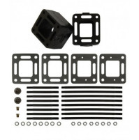 "3"" Spacer Blocks  with fastener and gasket package, Pair - MC-20-93320A3 - Barr Marine"