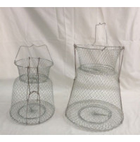 Stainless Steel Wire Fish Basket with support - WB002517SSSUX - AZZI
