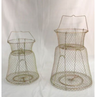 Galvanized Wire Fish Basket with support - WB002517SUX - AZZI
