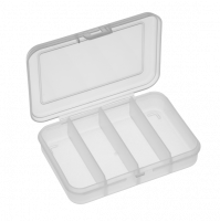 Fishing Polypropylene Box, 4 compartments - 102-4C - Plastica Panaro