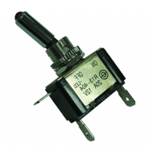 LED Toggle Switch 1118-44R - AES switches