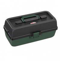 Polypropylene Tackle Box, with 2 shelves - 118-2T - Plastica Panaro