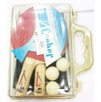 2 Estromboli Ping Pong Rackets with Net and 3 Balls - 23007 - Creber