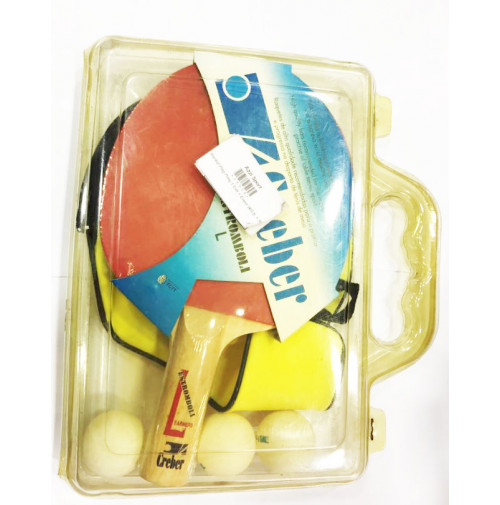 Estromboli Ping Pong Racket with Cover and 3 Balls - 23008 - Creber