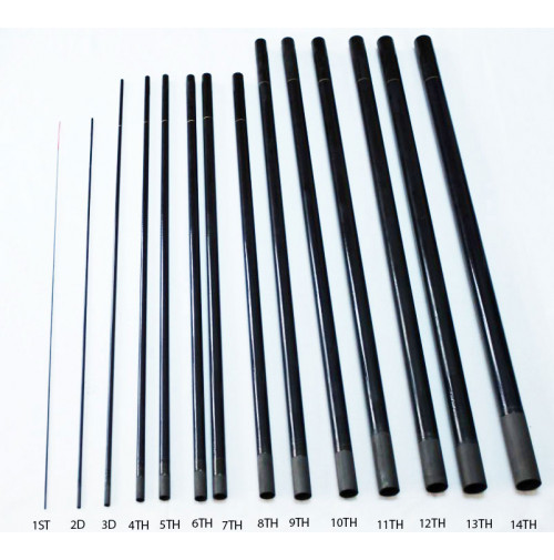 """Parts for Telescopic """" PROFESSIONAL """" Rod - 2525-001X - AZZI Tackle"""