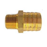 1/2 NPT to 1 Hose(Straight)/Brass Hose Fitting for OMC and Volvo - 50-512-017 - Barr Marine
