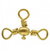 Barrel Cross-Line Swivel - 8121 - Yellow - AZZI Tackle