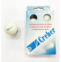 Ping Pong Balls without Stars - White - Pack of 6 Balls - BAL-P21000 - Creber