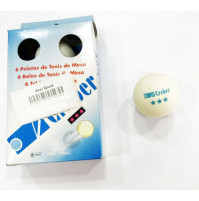 Ping Pong Balls with 3 Stars - White - Pack of 6 Balls - BAL-P21030  - Creber