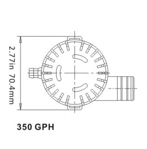 bilge pump 12v 350 gph