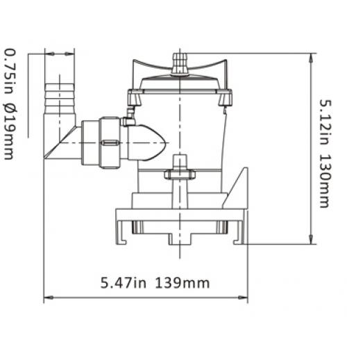 bilge pump 12v 600 gph - bp1-g600-03