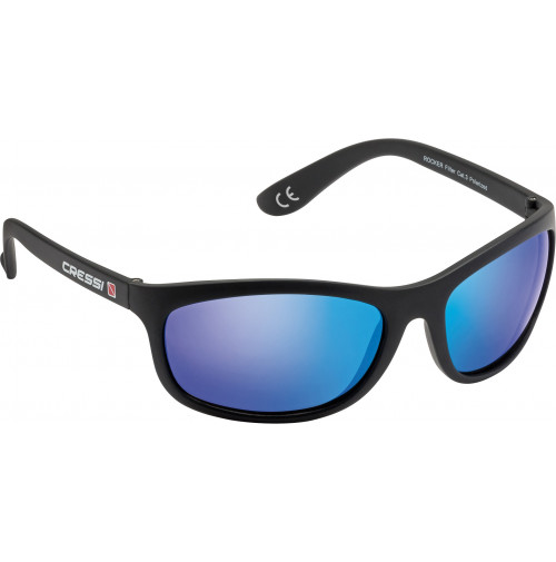 ROCKER WITH BLACK FRAME AND BLUE MIRRORED LENSES - VR-CDB100013 - Cressi