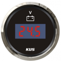 Digital Voltmeter Gauge - Model - CEVR - 9~32V - SS 316 - KY23000 - Kusauto