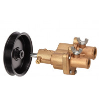 Bronze Flexible Cooling Pump with Pulley for Mercury / Quicksilver 46-862914T10 - DJ-M14862-P - DJ PUMP