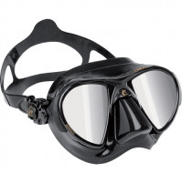 Nano HD Mirrored Lens Mask, Black Silicone - MK-CDS366050 - Cressi