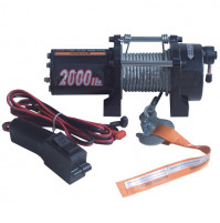 Electric Winch - 2000 lb (907 kg) Capacity - 12/24 V DC - BA-DW2000-12/24VX  - ASM