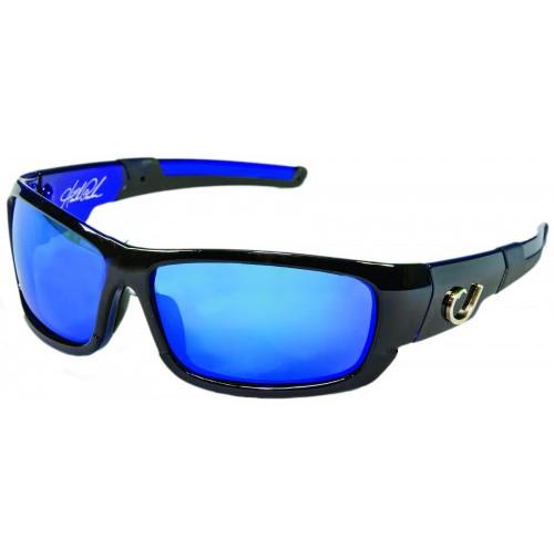 HP POLARIZED SUNGLASSES, BLACK FRAME, SMOKE LENS WITH BLUE REVO - HP101A-1 - Mustad
