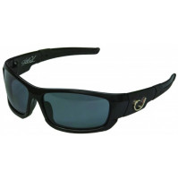HP POLARIZED SUNGLASSES, BLACK FRAME, SMOKE LENS - HP101A-2 - Mustad