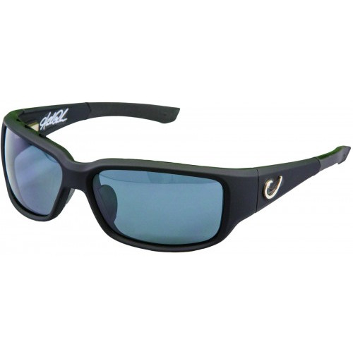 HP POLARIZED SUNGLASSES, BLACK VENTED FRAME, SMOKE LENS - HP102A-2 - Mustad