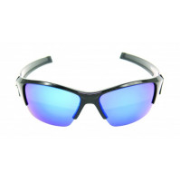 PRO SUNGLASSES GLOSS BLACK FRAME / SMOKE BLUE REVO LENS - HP105A-1 - Mustad