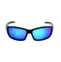 PRO SUNGLASSES MATTE BLACK FRAME / SMOKE BLUE REVO LENS - HP107A-1 - Mustad