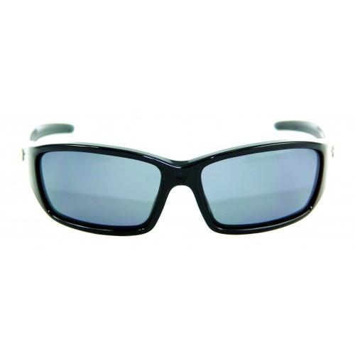 PRO SUNGLASSES GLOSS BLACK FRAME / SMOKE LENS - HP107A-2 - Mustad