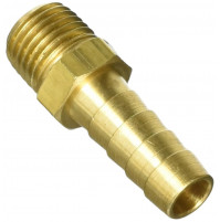 Hose Barb Fitting with Brass 3/8 inch and 1/4 inch NPT - IJB250-375 - Tides Marine