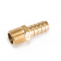 Hose Barb Fitting with Brass 3/8 inch and 1/2 inch NPT - IJB500-375 - Tides Marine
