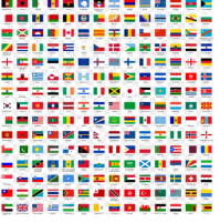 INTERNATIONAL FLAGS - 30x45cm - SM350102X - Sumar