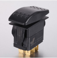 Rocker Switch without Light - 4 phase - Double Pole Single Throw DPST On-Off - JH-A12111ABX - ASM