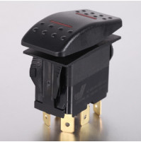 Rocker Switch without Light - 5 phase - Single Pole Double Throw SPDT On-Off-On - JH-A21432ERX - ASM