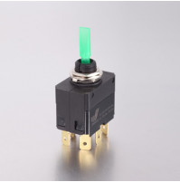 Toggle Switch - 4 phase - Double Pole Single Throw DPST On-Off - JH-C22122AGX - ASM